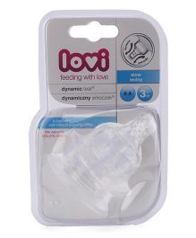 Lovi Dynamic Silicone Teat Slow Flow - Pack Of 2