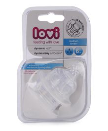Lovi Dynamic Silicone Teat Medium Flow - Pack Of 2