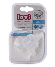 Lovi Dynamic Silicone Teat fast Flow - Pack Of 2