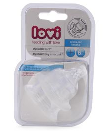Lovi Dynamic Silicone Cross Cut Teat - Pack Of 2