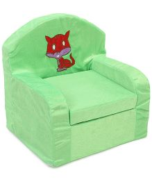 Luvely Kids Sofa Kitty Design - Green