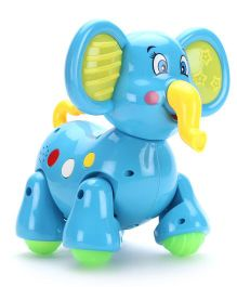Classic Walking Elephant With Music And Light - Blue