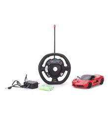 Classic 4 Function Sports Remote Control Car- Red