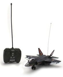 Classic RC 4 Function Fir Jet With Light And Music - Black