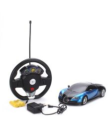 Classic 4 Function Sports Remote Control Car- Blue