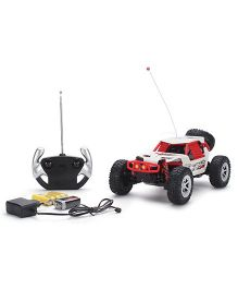 Classic 4 Function Sports Remote Control Car- Red And White