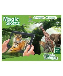 3D Coloring Book Magic Sketz - Jungle Animals Activity Book By Augment Works