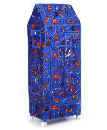 Toyzone Superman Toy Box Almirah - Blue