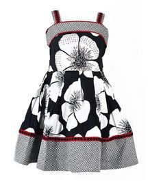 Marshmallow Flower Print Dress - Black