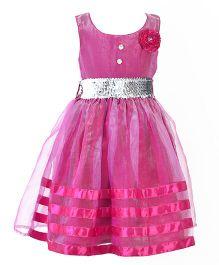Marshmallow Party Wear Dress - Magenta