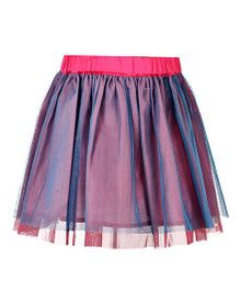 Marshmallow Stylish Skirt - Pink & Blue
