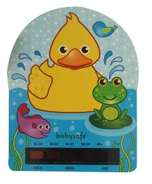 LCR Hallcrest Baby Bath Tub Thermometer Duck Print - Blue And Yellow
