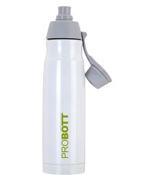 Probott Stainless Steel Double Wall Insulated Sports Bottle White - 500 ml