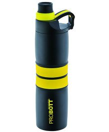 Probott Sports Bottle Yellow And Black - 600 ml