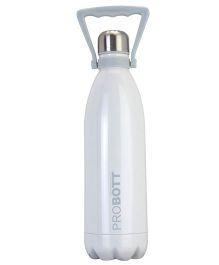 Probott Stainless Steel Insulated Sports Bottle White - 1000 ml