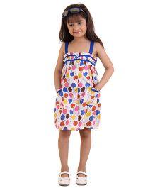 Kids On Board Floral Print Strap Dress - Multicolour
