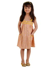 Kids On Board Pineapple Print Dress - Yellow