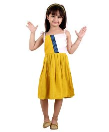 Kids On Board Attractive Summer Dress - Yellow