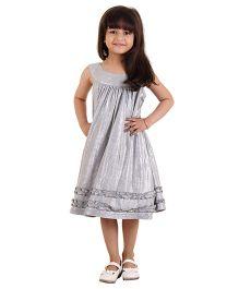 Kids On Board Sleeveless Party Dress - Grey