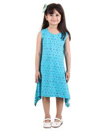 Kids On Board Asymmetrical Dress - Blue