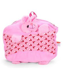 Play And Pets Rabbit Plush Bag Pink - 12 Inches