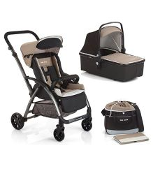 BeCool Vision And Top Carrycot Travel System - Noisette