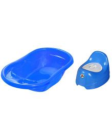 Sunbaby Bathtub With Potty Trainer Pack of 2 - Blue