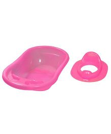 Sunbaby Bathtub With Potty Seat Pack of 2 - Pink