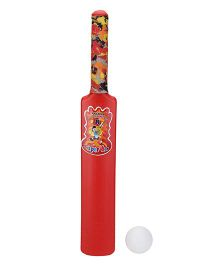 Luvely Cricket Bat And Ball - Red