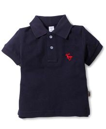 ToffyHouse Polo T-Shirt Embroidered Deer - Dark Navy