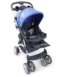 Toyhouse Premium Baby Stroller With Canopy Blue Black - ATTPST1112873