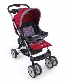 Toyhouse Premium Baby Stroller Cum Pram - Pink