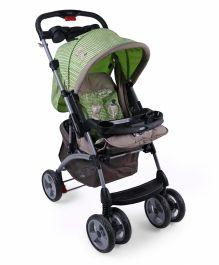Toyhouse Premium Baby Stroller Cum Pram - Green