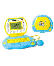 Toyhouse Educational Laptop With 80 Learning Activities - Yellow Aqua Green