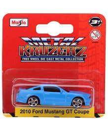Maisto 2010 Ford Mustang Gt Coupe Die Cast Car - Blue
