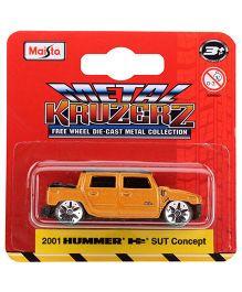 Maisto 2001 Hummer Suv Concept Die Cast Car - Orange
