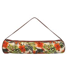 Jaipurse Kantha Work Yoga Mat Bag  - Multicolour