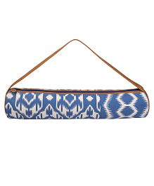 Jaipurse Ikat Print Yoga Mat Bag  - Blue