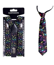 Tiekart Playful Tie & Suspender Combo - Multicolour