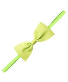 Needybee Girls Ribbon Bow On Soft Elastic Baby Headband - Green