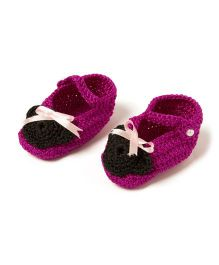 Funkrafts Attractive Crochet Booties - Pink