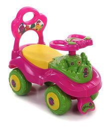 My Baby Excel Barney Foot To Floor Ride On Car - Pink