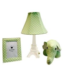 Little Nest Table lamp Set Polka Dot Print - Green