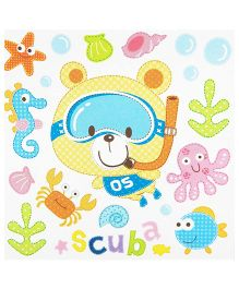 Little Nest 3D Stickers Scuba Theme - Multi Color