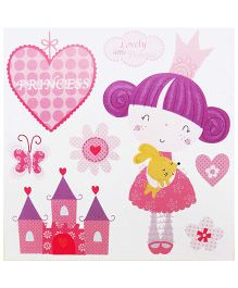 Little Nest 3D Stickers Princess Theme - Pink And Purple