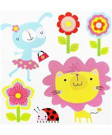Little Nest 3D Stickers Garden Theme - Multi Color
