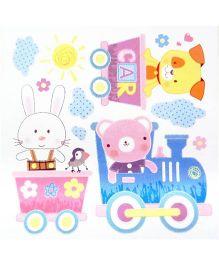 Little Nest 3D Stickers Toy Train Theme - Multi Color