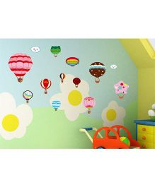 Little Nests DIY Hot Air Balloon Wall Decals - Multicolor