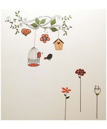Little Nests DIY Bird Cage Wall Decals - Multicolor