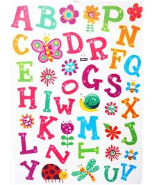 Little Nests DIY Alphabets Wall Decals - Multicolor